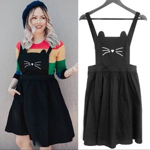 New Modcloth Any Day Meow Kitty Suspender Dress